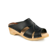 Mariah Clog-Sandals in Black - Women's Original Sole Collection (373-011)