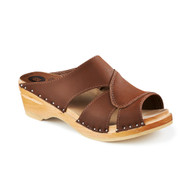 Mariah Clog-Sandals in Cocoa Nubuck - Women's - Original Sole Collection (373-566)