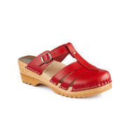 Mary Jane Clog-Sandals in Red (6077-036)