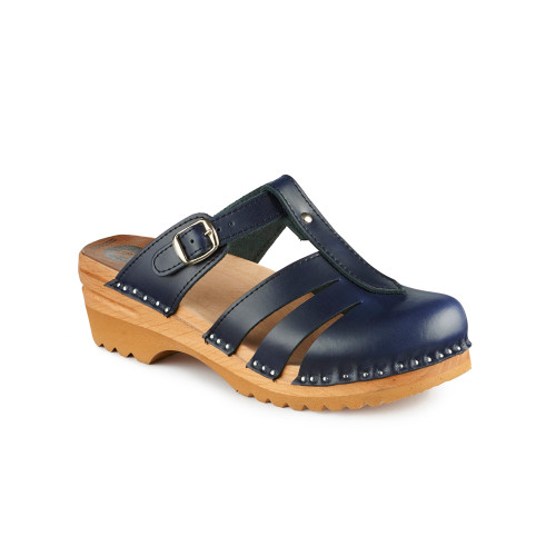 Mary Jane Clog-Sandals in Dark Blue (6077-043)