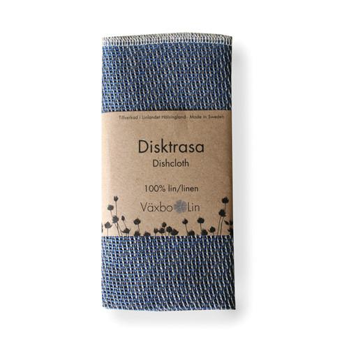 Linen Disktrasa Dishcloth - Blue (91-13)