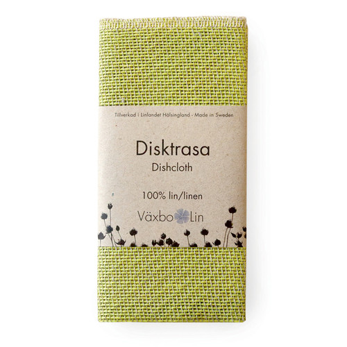 Linen Disktrasa Dishcloth - Lime (91-17)