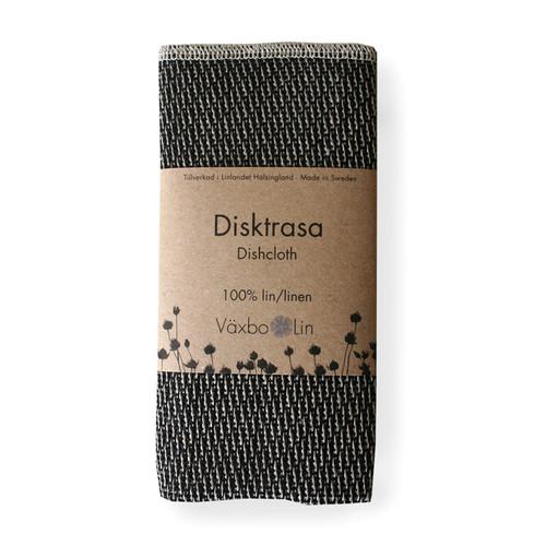 Linen Disktrasa Dishcloth - Black (91-3)