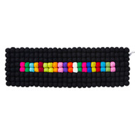 Wool Table Runner/Trivet - Black/Multi (1122)