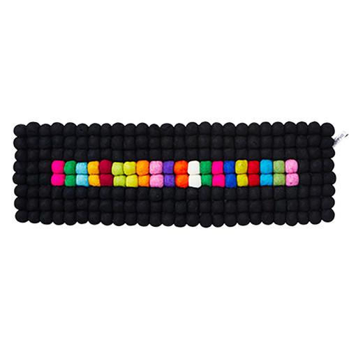 Wool Table Runner/Trivet - Black/Multi (1122)