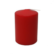 "Pillar Candle- 4"" - Red (532R)"