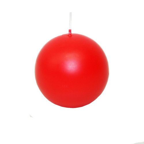 """Ball Candle- 3"""" - Red (551R)"""