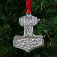 Thor's Hammer Ornament - Pewter (PO-12)