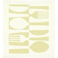 Ekelund Disktrasa Dishcloth - Tinas Bestick - Natural - Linen/Cotton (Tinas Bestick-08)