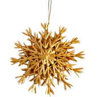 "Straw Snowflake Ornament - 12"" (H1-529-12)"