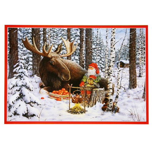 Paper Poster - Tomte and Moose (BO520)