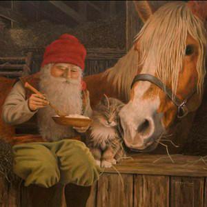 Tomte & Horse Luncheon Napkins (SE530)