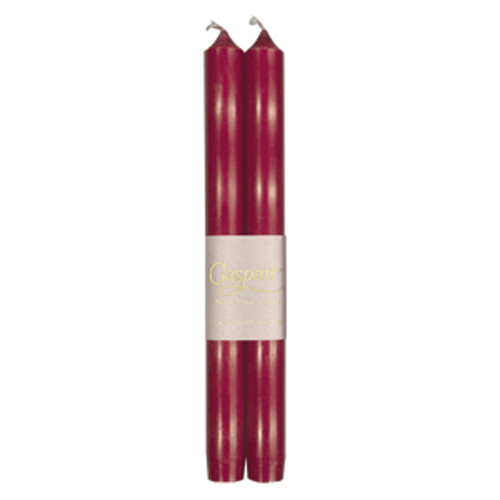 """Bordeaux Duet Candles - Two 10"""" Crown Candles in Cello Gift Pack (CA22.2)"""