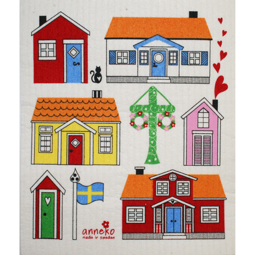 Swedish Dishcloth - Cottages (70668)