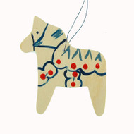 Dala Horse Christmas Ornament - Wooden (887N)
