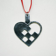 Norwegian Pewter Ornament - Heart Basket (PO-18)