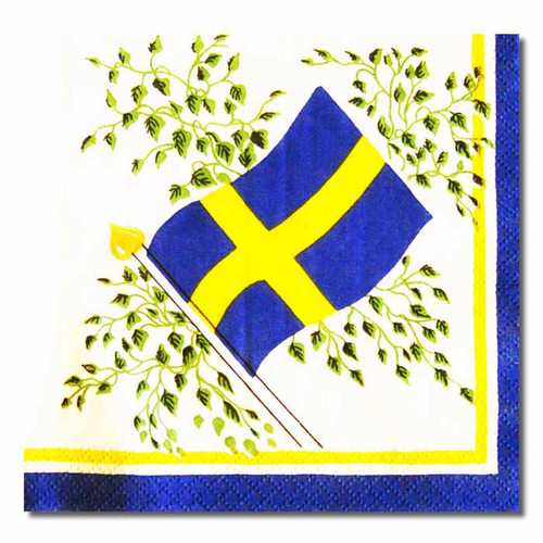 Sweden Flag Luncheon Napkins - (501998)