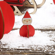 Nordic Santa Decoration - Wooden - (8821581)
