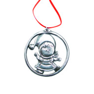 Norwegian Pewter Ornament - Christmas Girl (PO-20)