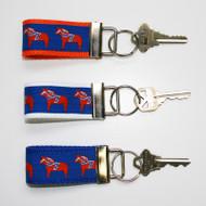 Key Fob Fabric Keychain - Dala Horse - (1018S)