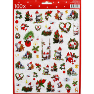 Christmas Stickers - 100 Sticker Pack (13767501D)