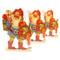 Paper Cutout Santa-Tomte w/ basket and lantern - (BK-6L)