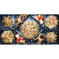 Straw Ornament Assortment (28 pc) (H1-501)