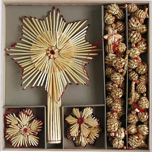 Straw Ornament Set - (H1-514)