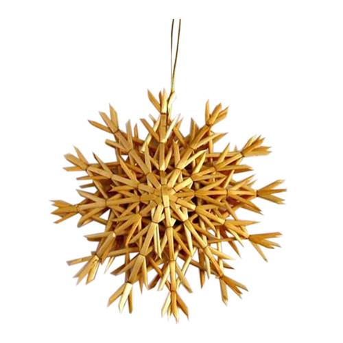"Straw Snowflake Ornament - 8"" (H1-529-8)"