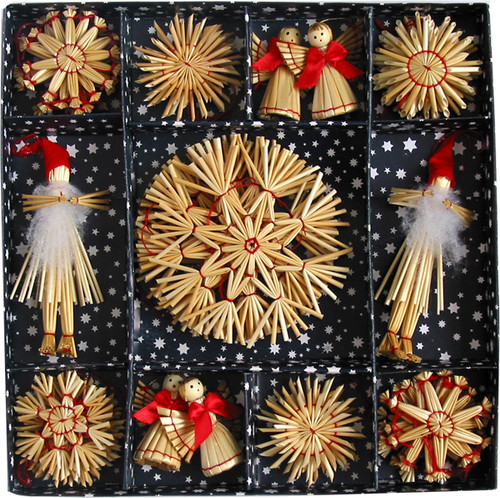 Straw Ornament Set - (H1-531)