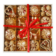 Straw Ornaments - Boxed Assortment (56) - (H1-533)