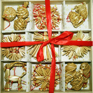 Straw Ornament Assortment - (H1-55)