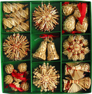 Straw Ornament Assortment - (H1-552)
