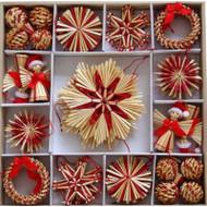 Straw Ornament Assortment - (H1-721)