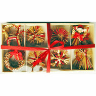 Straw Ornament Assortment - (H1-783)