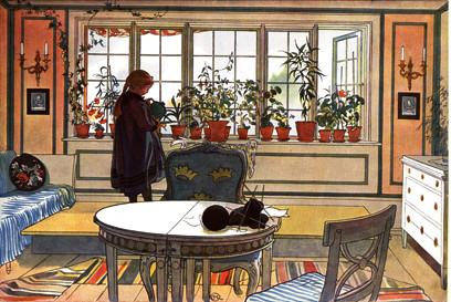 Carl Larsson Blank Card - (NC2824)
