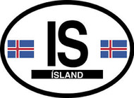 Iceland Car Decal - (OD-I)