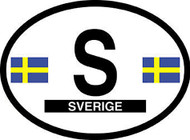 Sweden Car Decal - (OD-S)