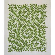 Swedish Dishcloth - Leaves Green (212G)