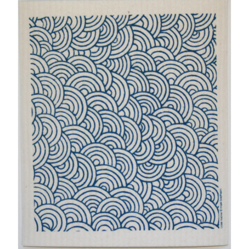 Swedish Dishcloth - Circles - Blue (218.09B)