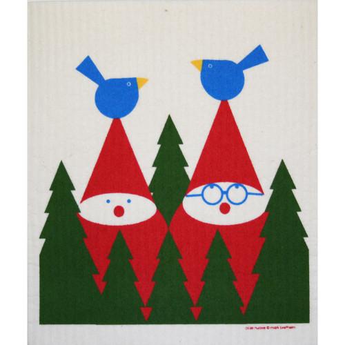Swedish Dishcloth - Tomte Birds (219.29)