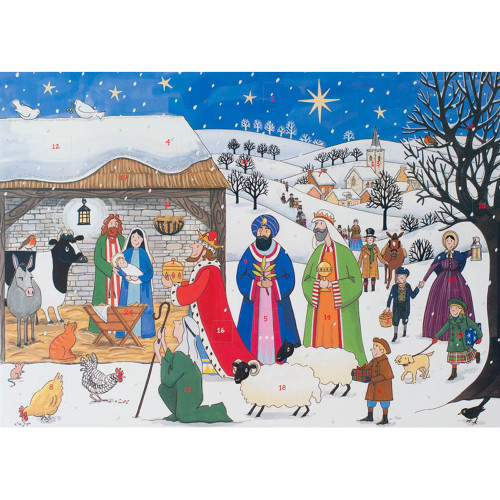 "Advent Calendar - Jesus is Born - 16.5"" x 11.75"" (AC2)"