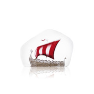 Viking Ship - Red - by Mats Jonasson (33910)