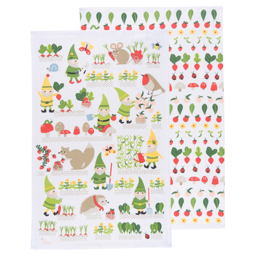 Dish Towel/Kitchen Towel Set - Gnome Sweet Gnome - 2 Pc's