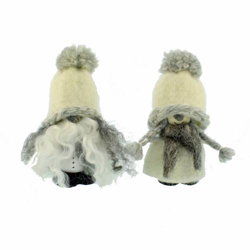 """Wool Tomte - White - 3 3/4"""" (7011W)"""