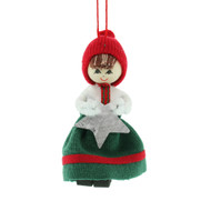 "Butticki Tomte Girl w/ Stat Ornament - 3"" (13163)"