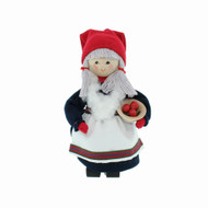 "Tomte Girl w/Apple Bowl - Butticki - 6"" (13053)"