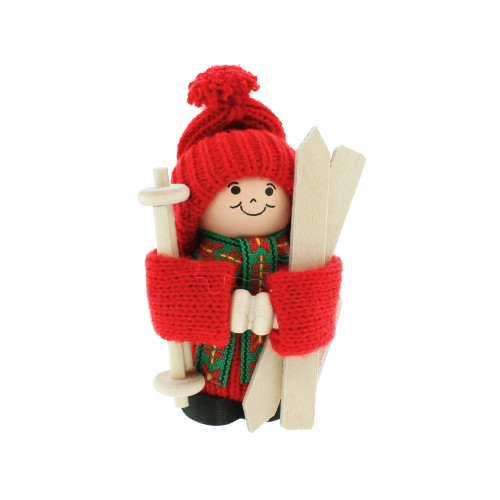 "Tomte with Skis - 4"" (21602)"