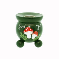 "Swedish Candle Holder - Mushrooms - 3"" (1572)"
