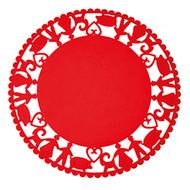 Red Felt Tree Carpet - Pixy and Pig (7349)